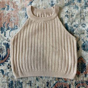 Minimalist Knit Crop Tank